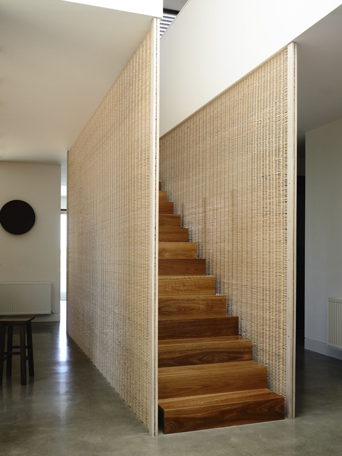 Traditional costal approach to staircase wall