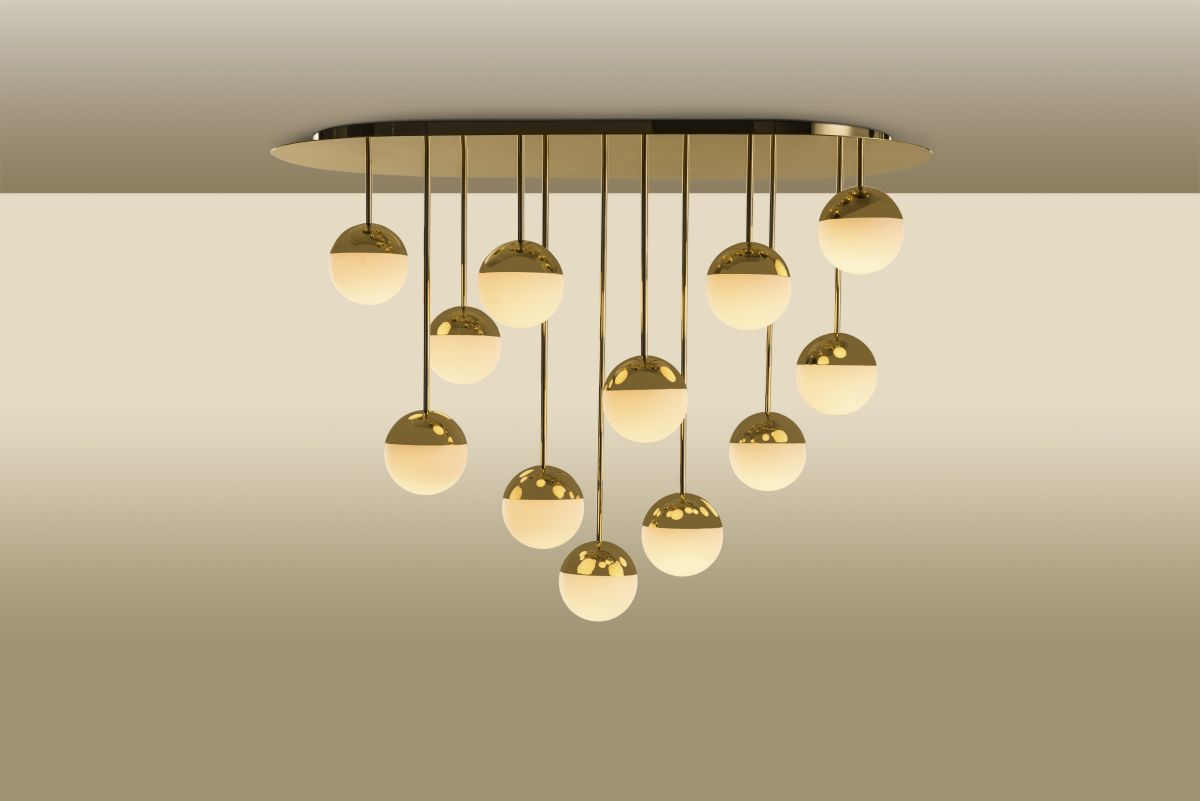 Trussardi Cherries Brass Chandelier