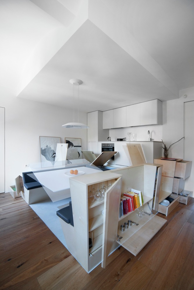 Newly-Renovated Apartment Completely Rethinks Space Distribution