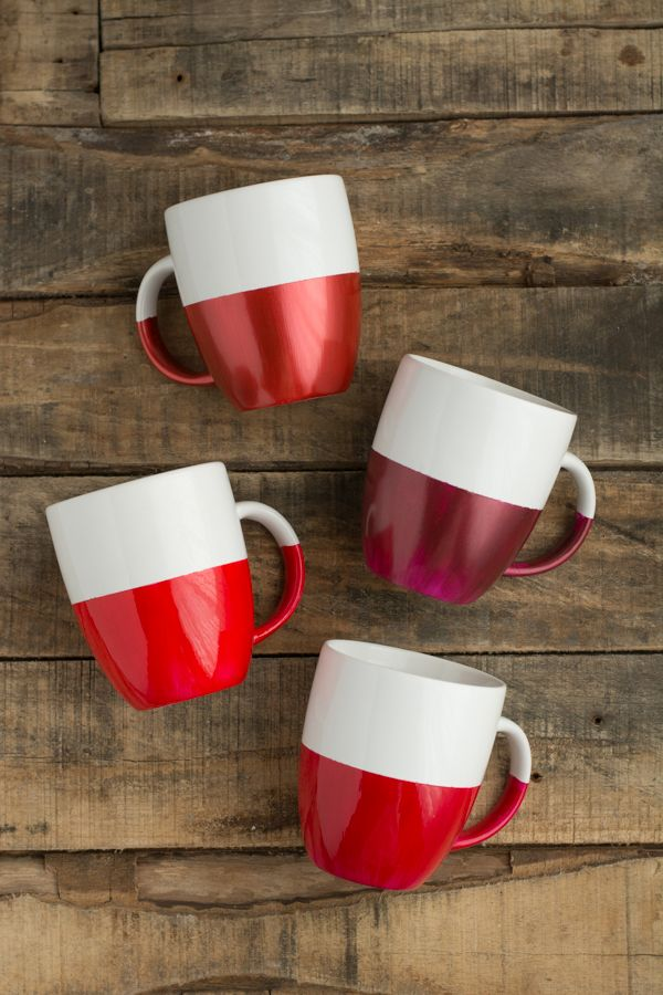 Two tone dipped mugs