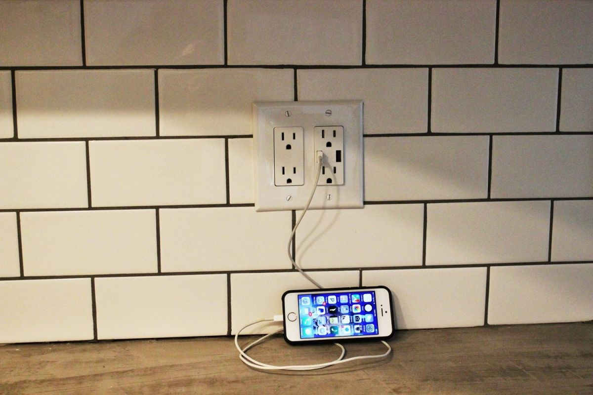 USB Charger Outlet For Kitchen