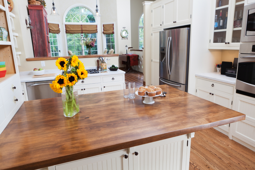 User-Friendly Kitchen Butcher Block Countertop