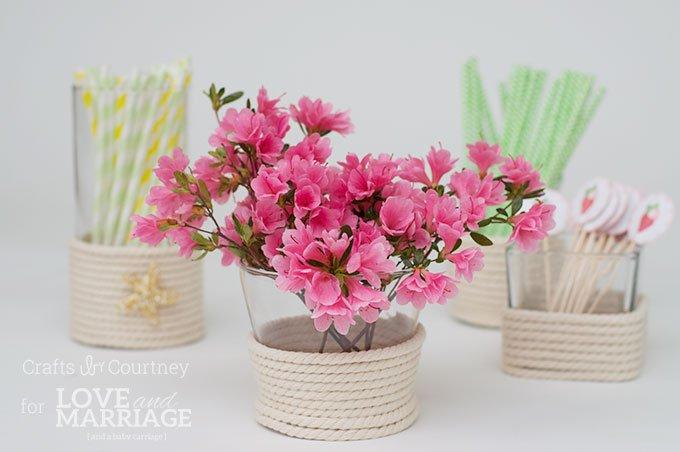 Vase flowers makeover