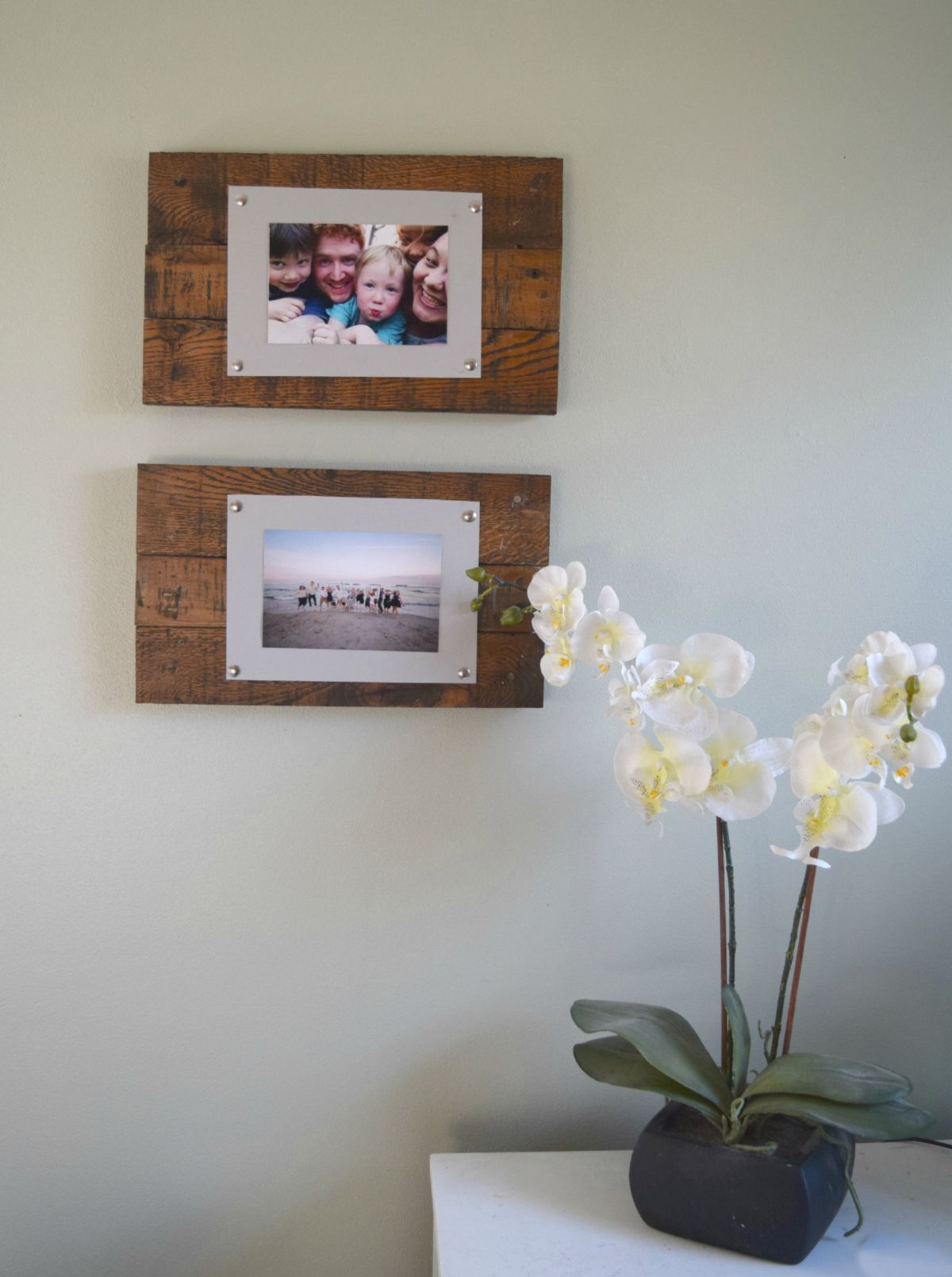 Wall art picture frame from scrap wood