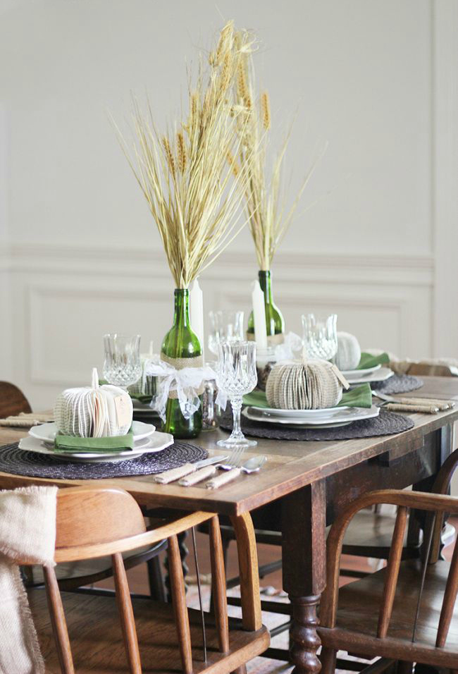 Wheat bouquet centerpiece