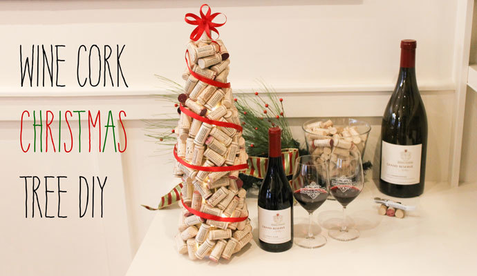 Wine cork Christmas tree DIY