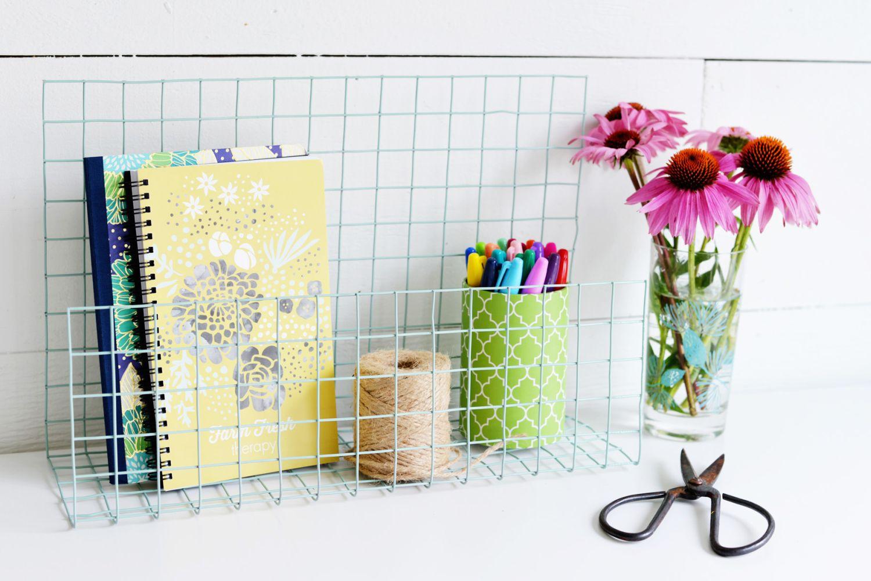 DIY Wire Desk Organizer
