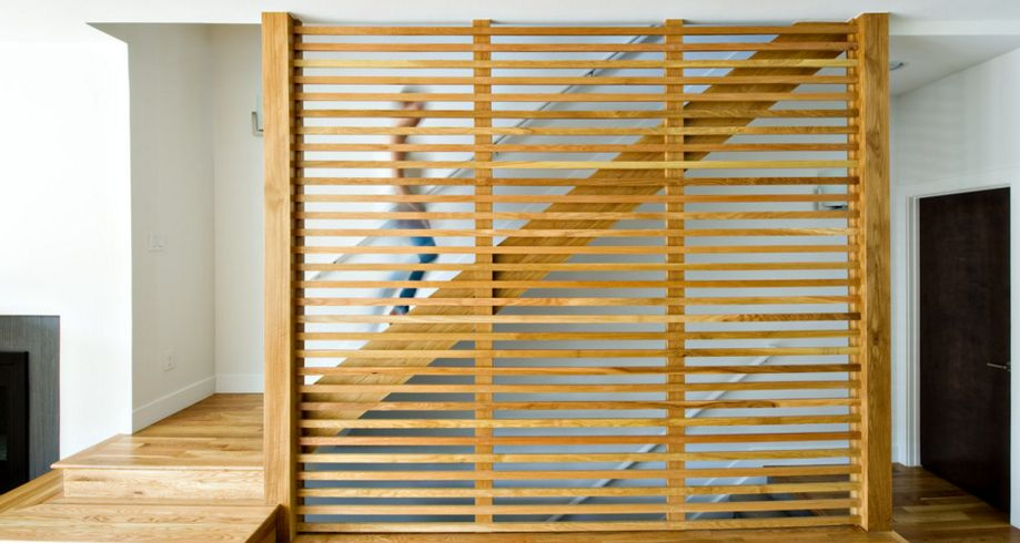 Wood Staircase wall Divider