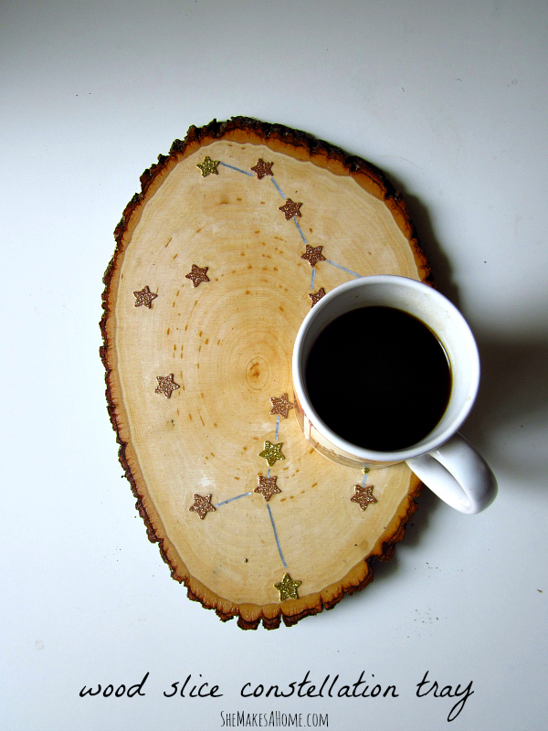 Wood slice try constellation