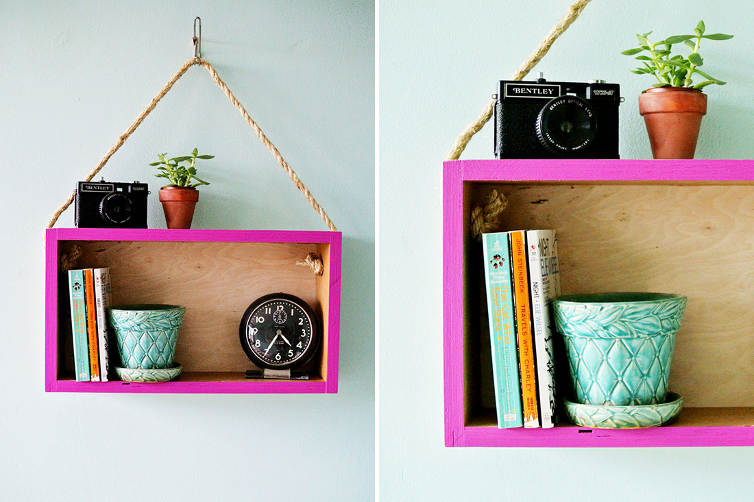 easy diy wall shelves. wooden box into a modern hanging easy diy wall shelves