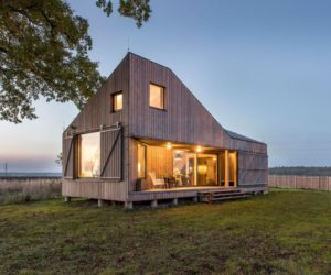 Experimental Low-Energy Home Surrounded By Fields And Meadows