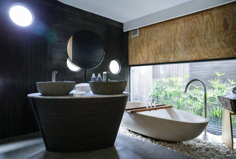 X-Float unit bathroom material palette