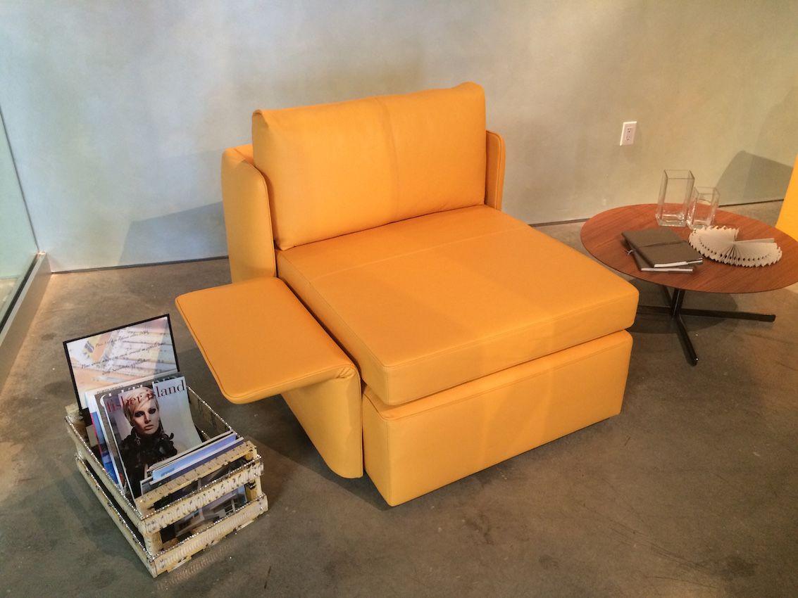 Yellow Naidei Armchair by Poltrona Frau