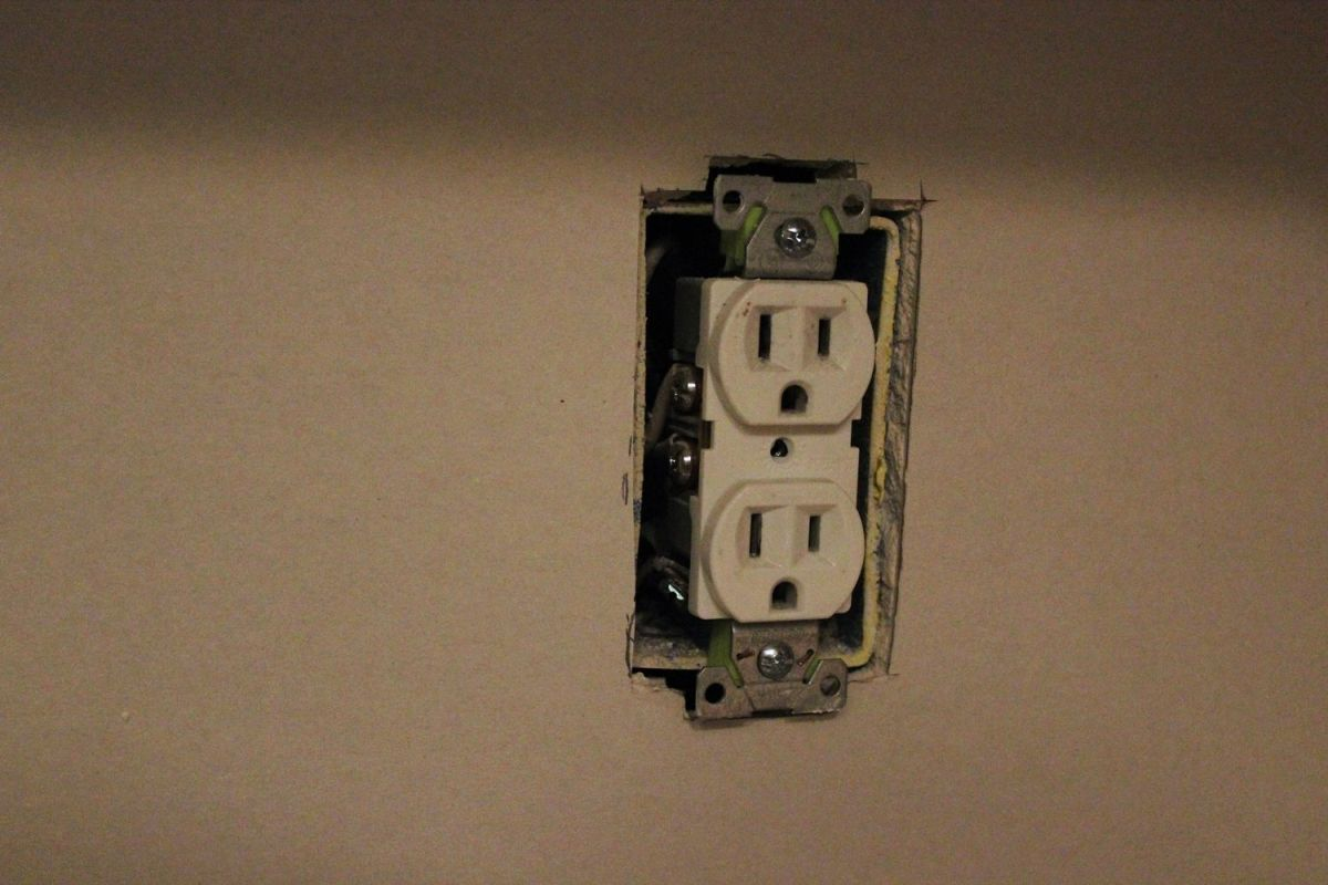close fit around electrical outlets