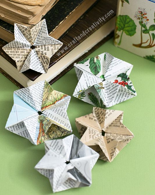 design for paper star ornaments