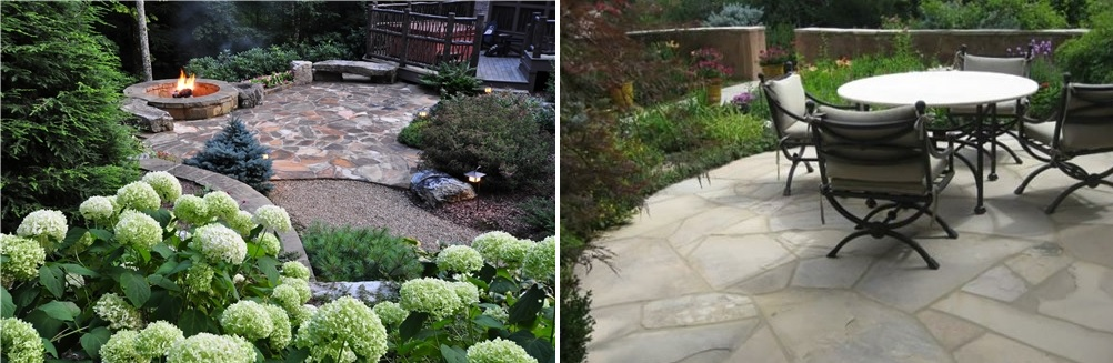 flagstone as material for your backyard