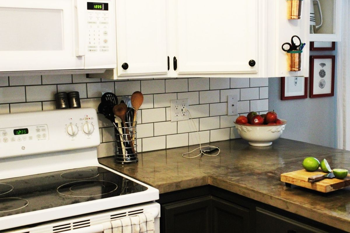 Backsplash Kitchen Subway Tile How To Install A Subway Tile Kitchen Backsplash