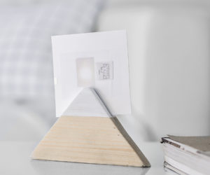 DIY Triangle Wooden Photo Holder