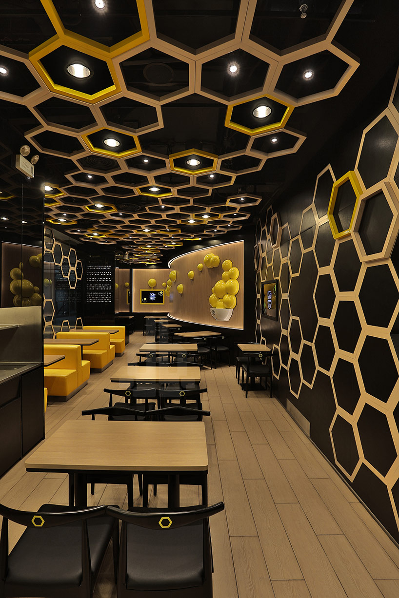 playful honeycomb restaurant rice home