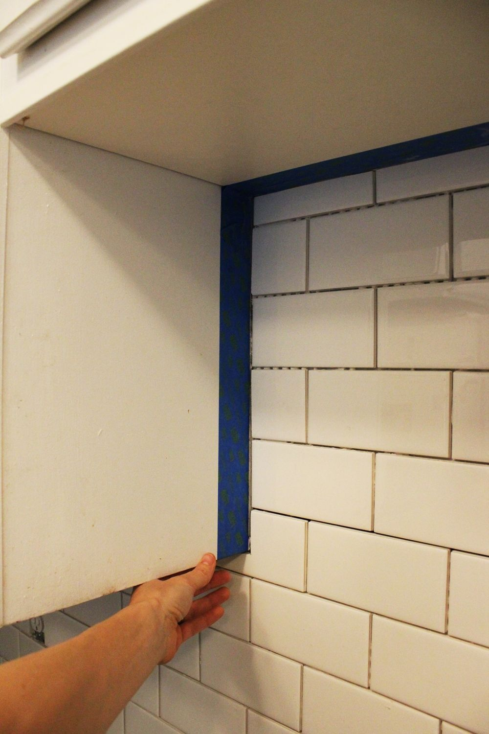 Kitchen Backsplash Grout Color how to install a subway tile kitchen backsplash