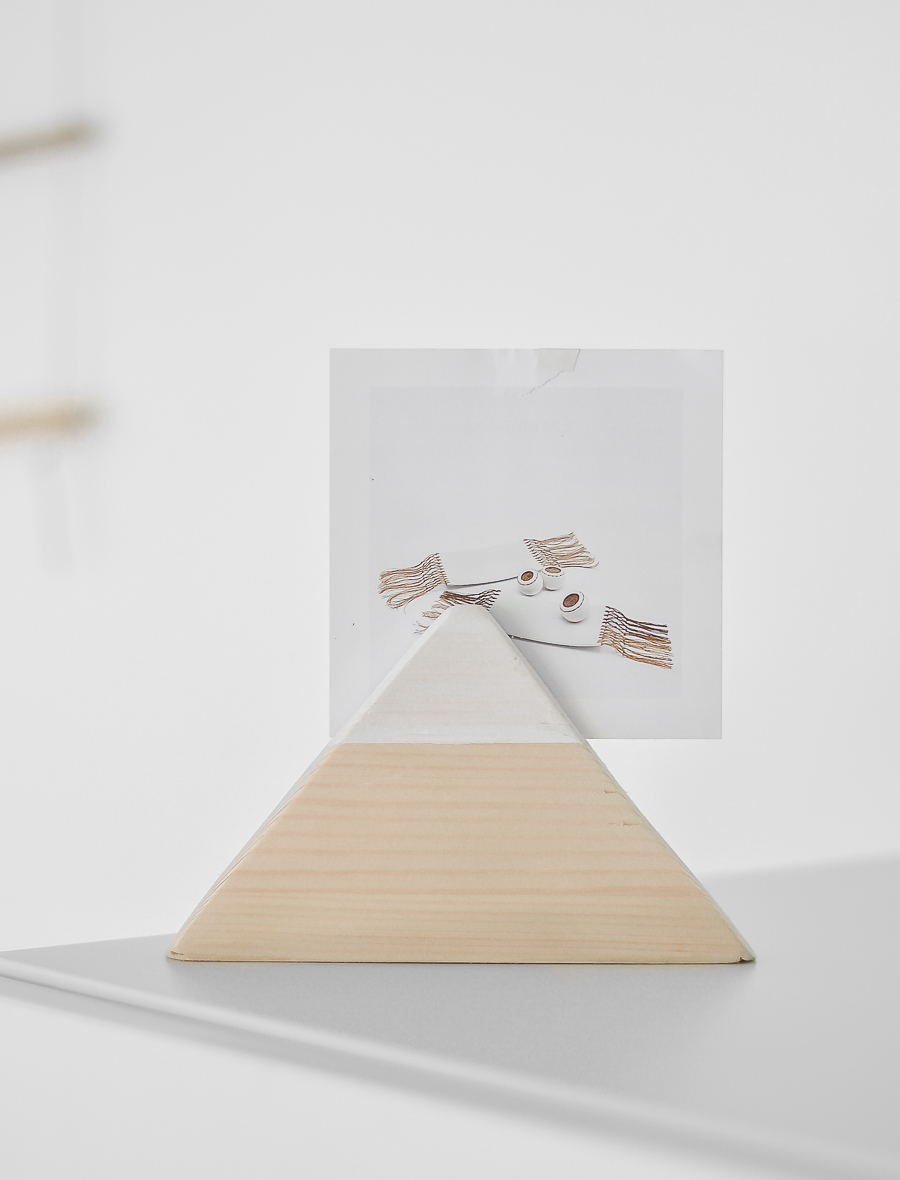 wooden mountain postcard holder_