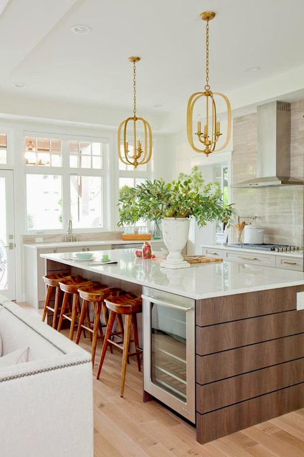 Awesome Color Schemes For A Modern Kitchen - Accent color for grey and white kitchen