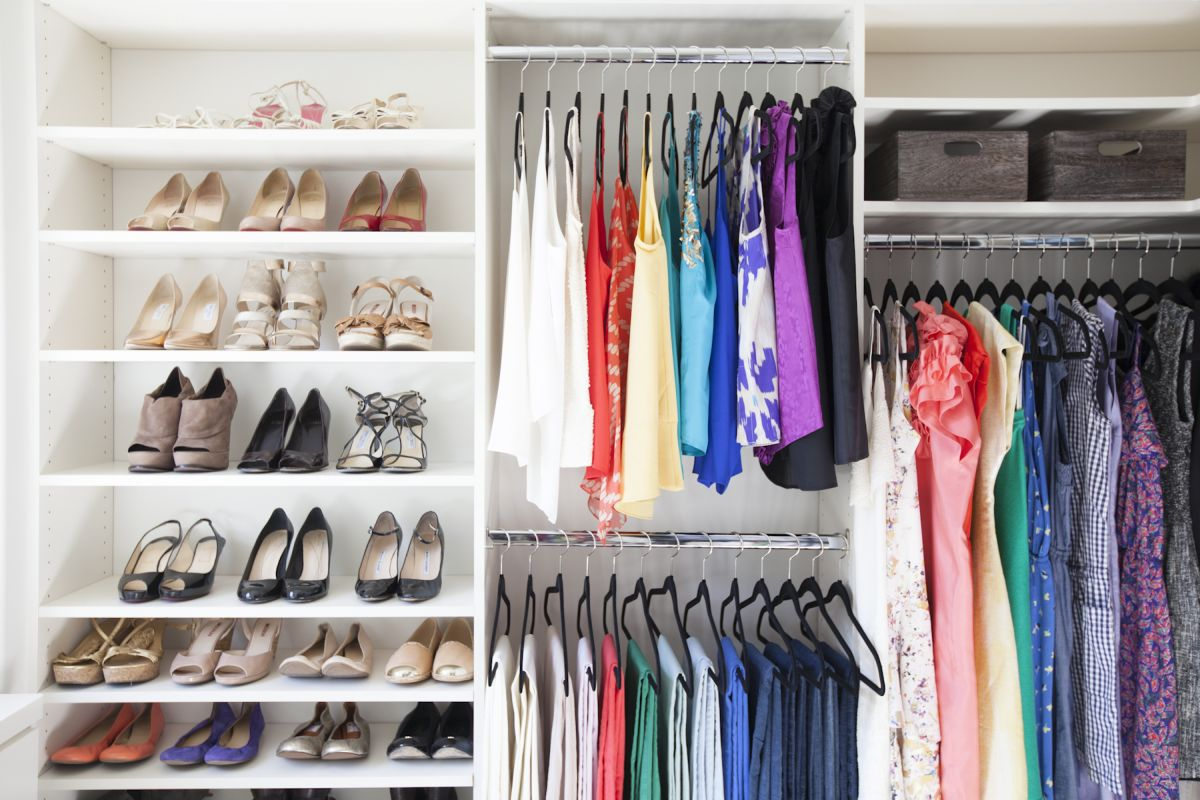 Arrange closet by season