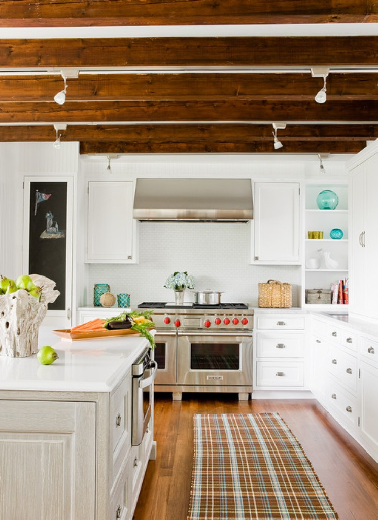 Beautiful Kitchen with Exposed Roof Beams
