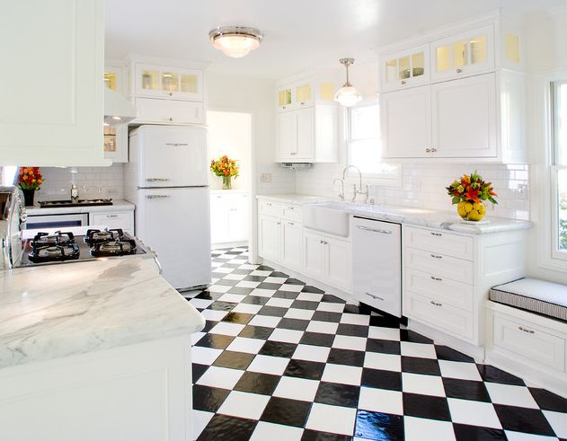 Superieur Black And White Kitchen Floor