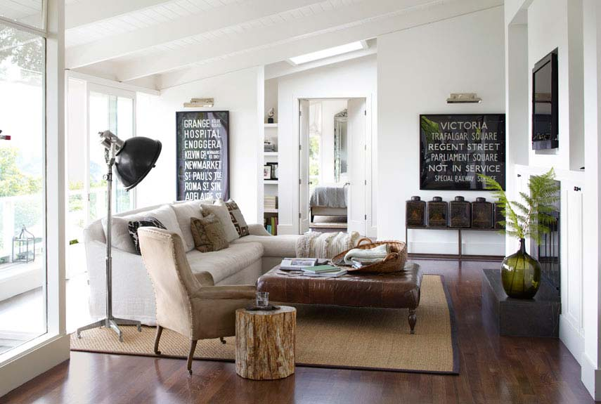 blend modern and country for living room - Ranch Style Decor
