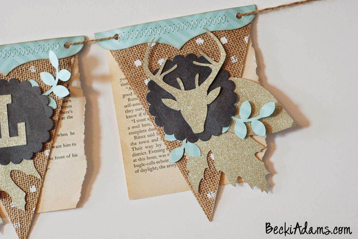Burlap Thankful Banner