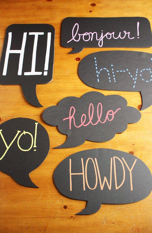 Chalkboard word bubble