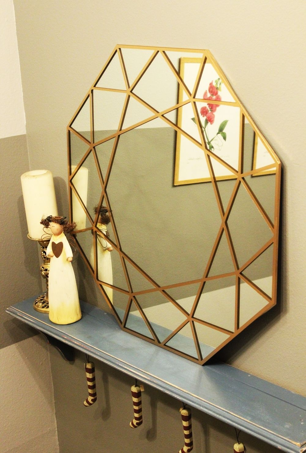 Chic DIY Gem Mirror