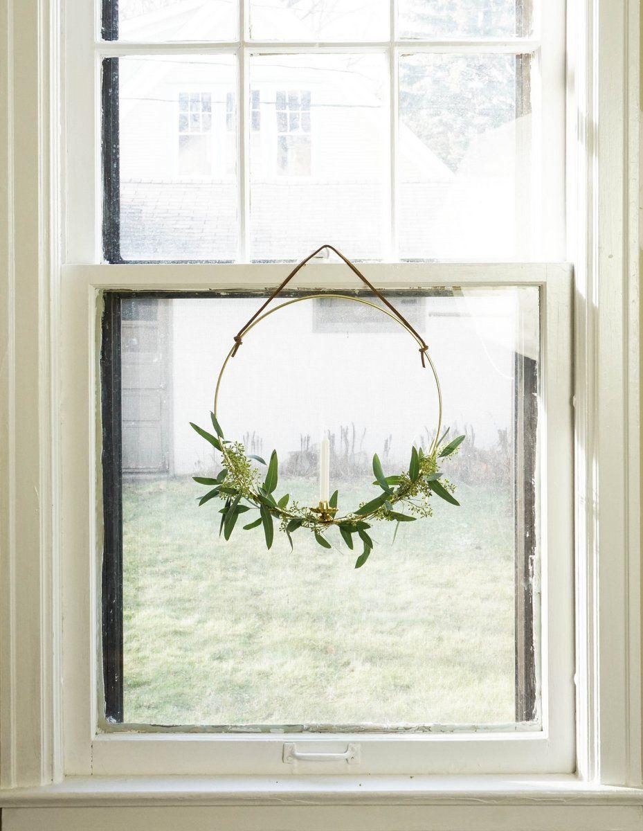 Christmas Eucalyptus Candle Wreath
