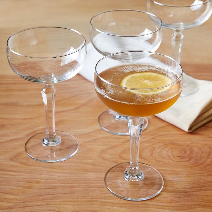 Classic cocktail glasses