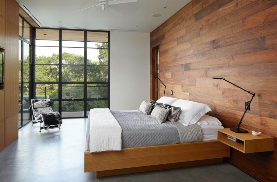 Clean modern lines for bedroom