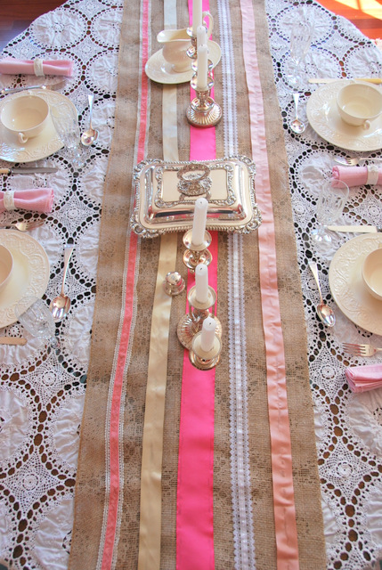 Colorful Burlap Table runner