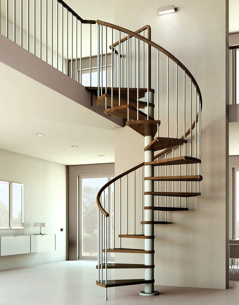 Contemporary simple spiral staircase