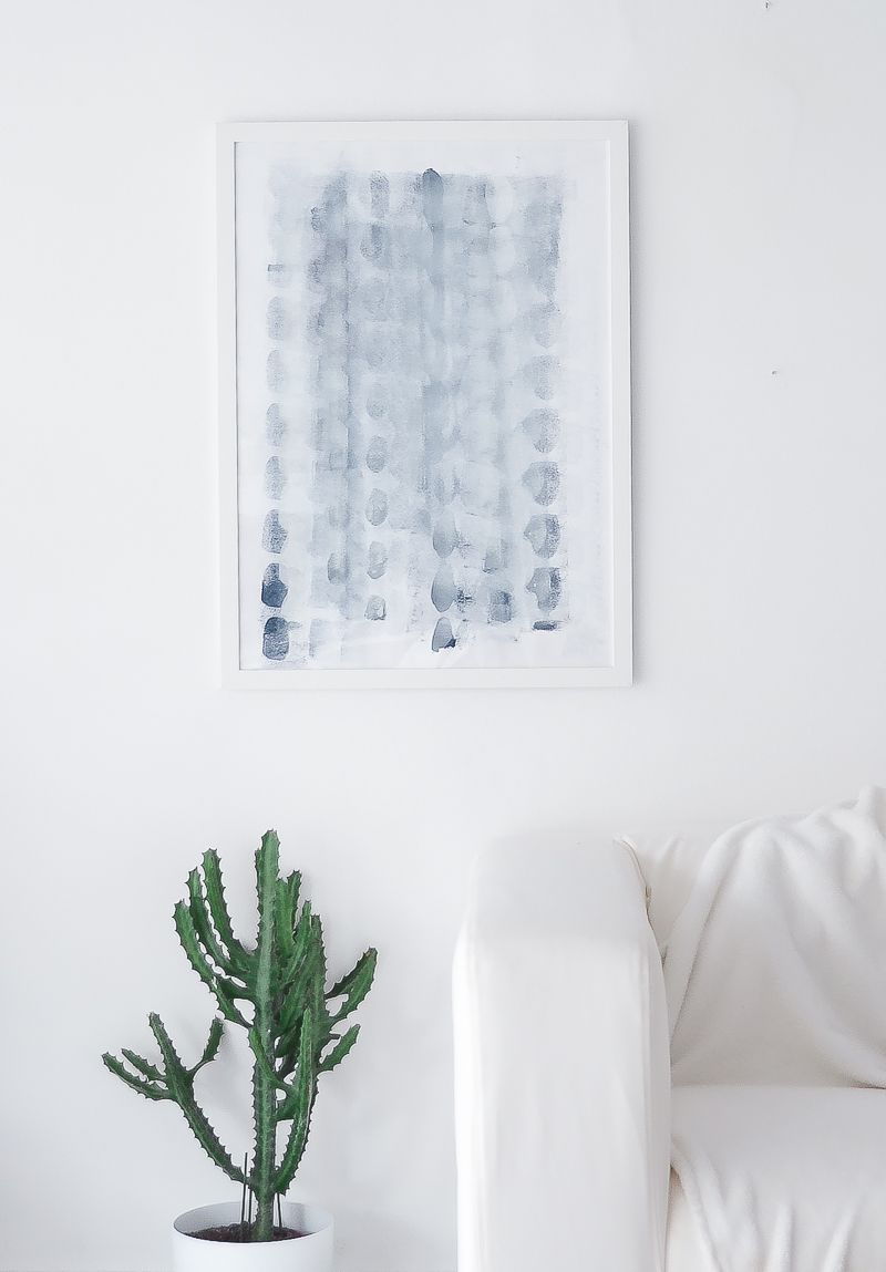 Diy minimalist canvas art for Minimalist wall decor