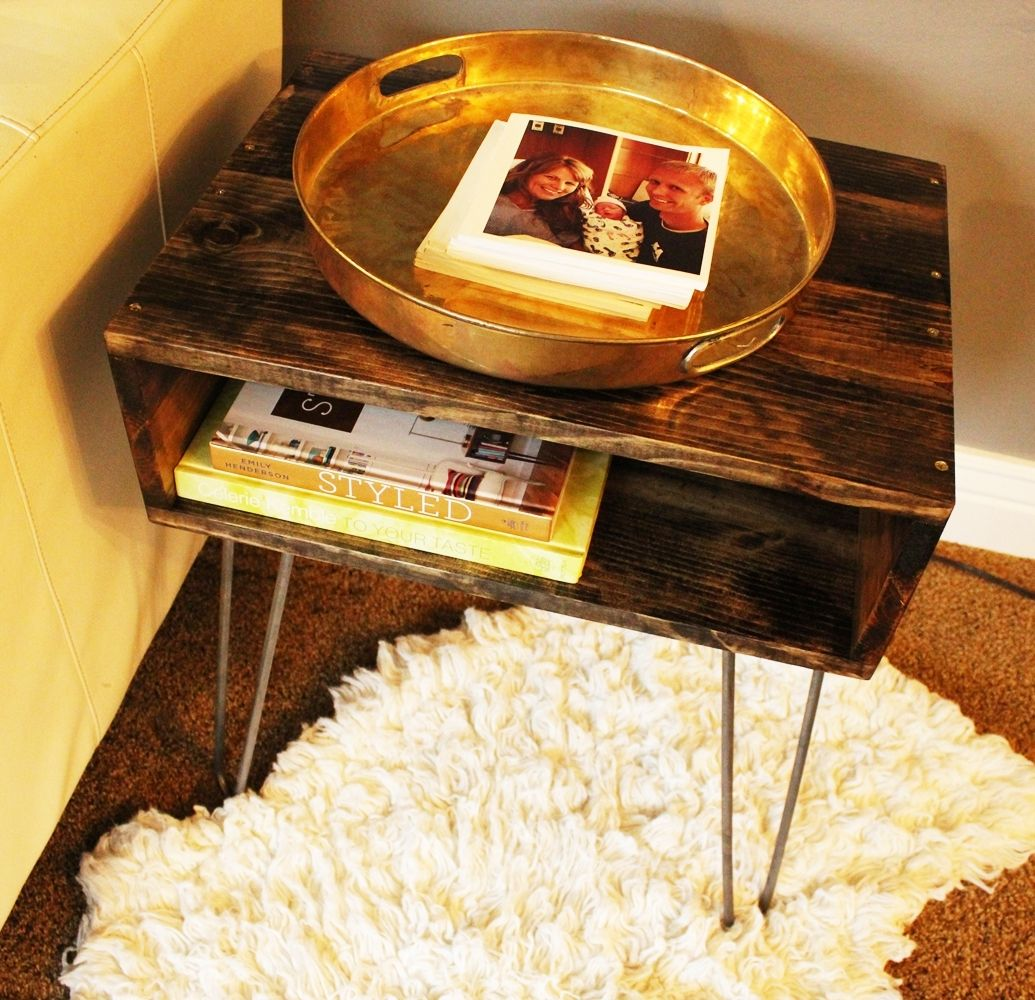 DIY Hairpin Leg Side Table - Lower Shelf