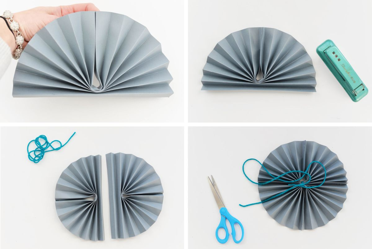 DIY Paper Pinwheels for NYE Second Steps