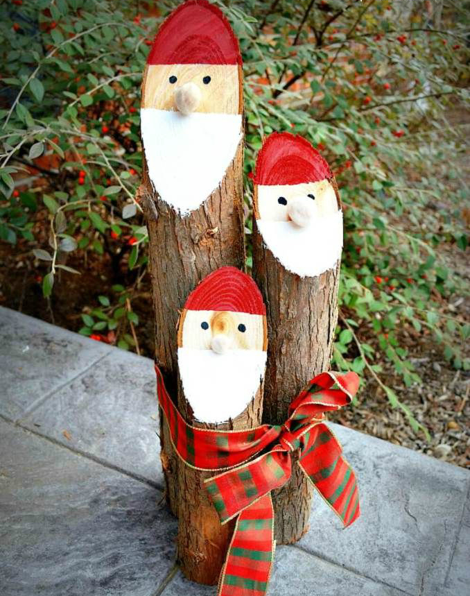 DIY Santa logs