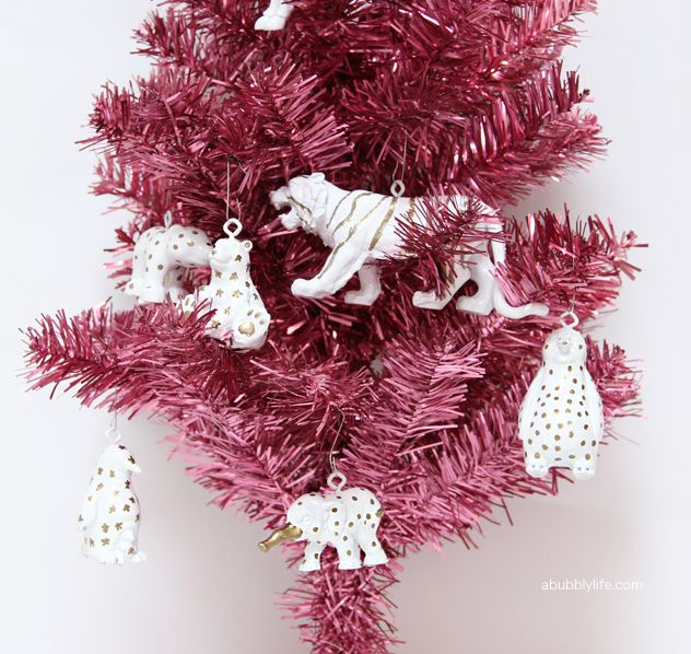 DIY Sharpie animal ornaments