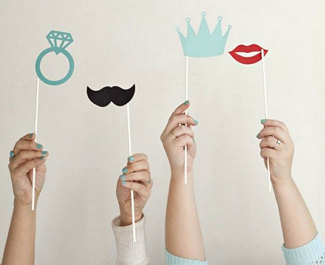 DIY basic photo booth props