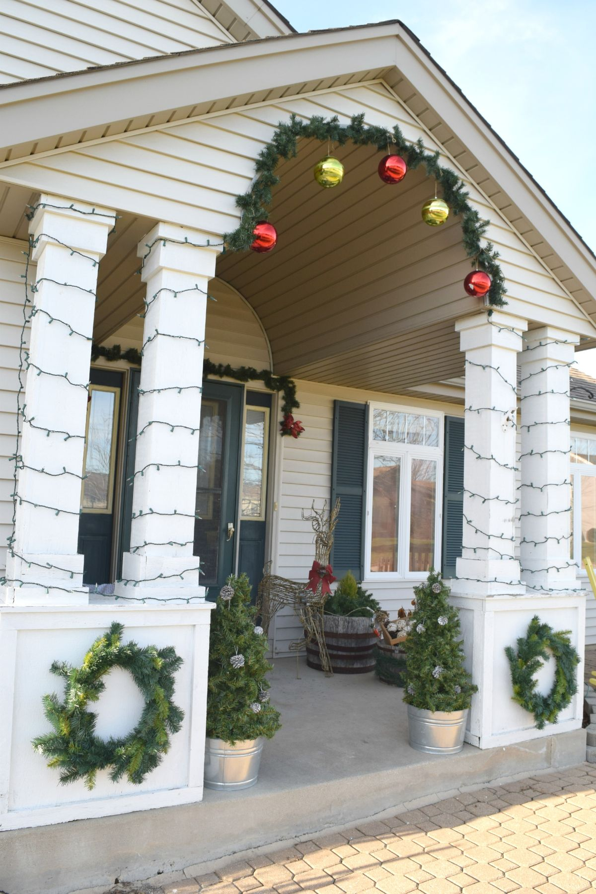 DIY front porch christmas decorations