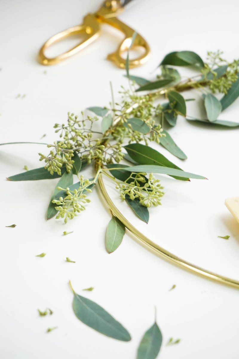 Eucalyptus Candle Wreath Closer