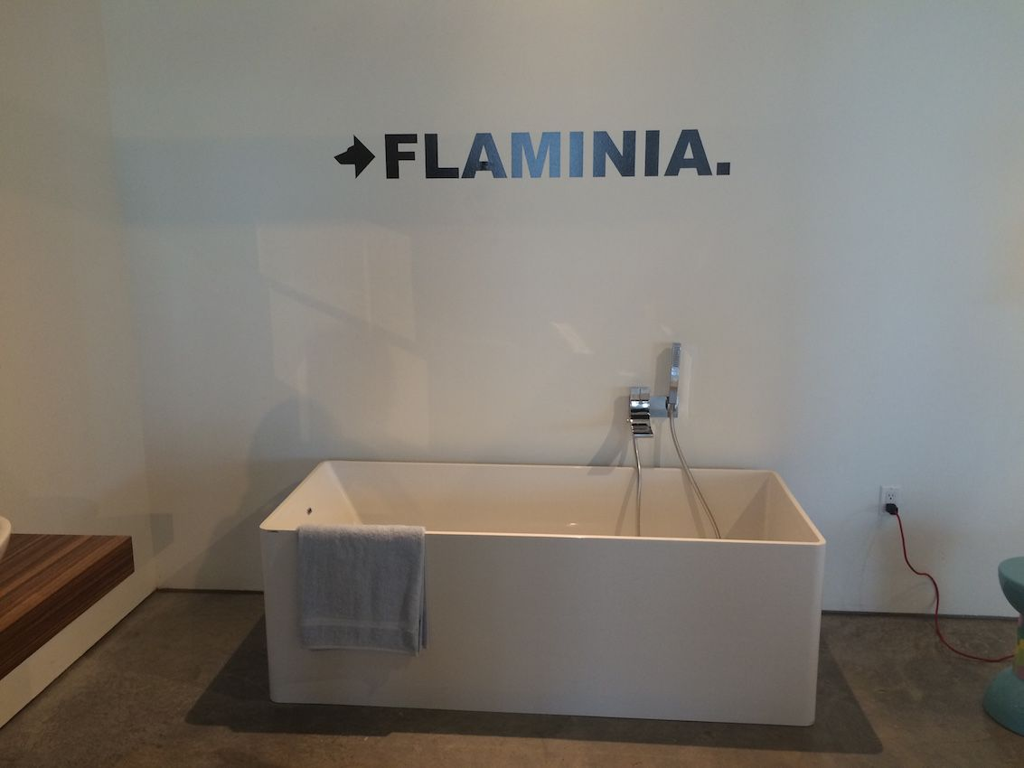 Although Flaminia is an Italian company with a long history, today it creates fixtures in cutting edge designs like this tub.