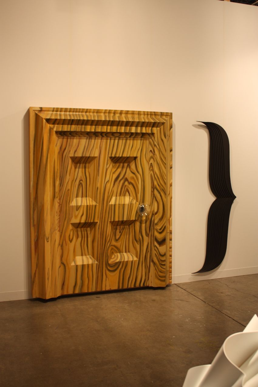 Even a door can be artful, as seen in this work from the Galerie Thomas Schultz in Germany.