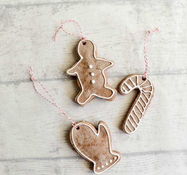 Gingerbread dough ornaments