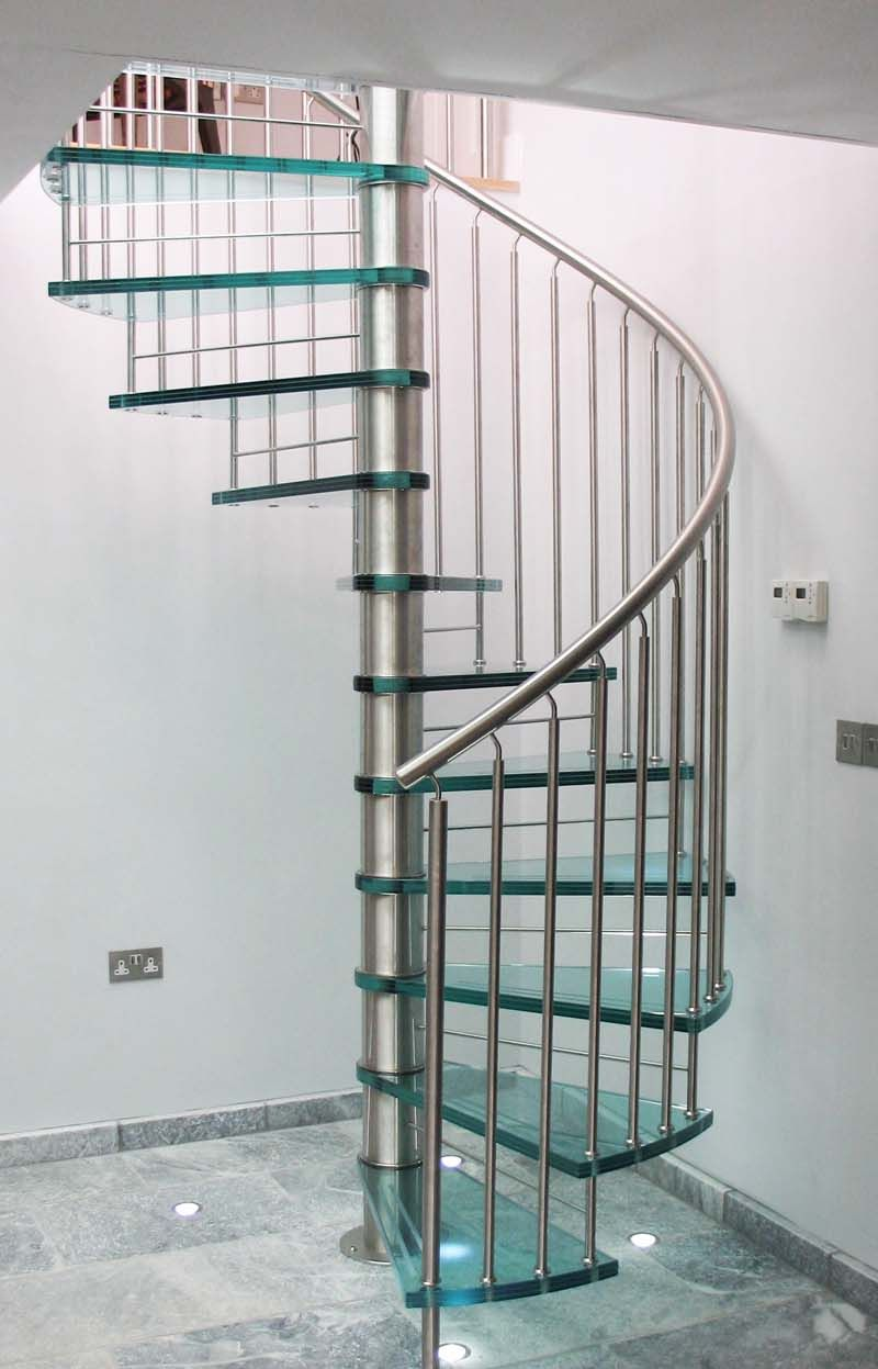 Glass Spiral Staircase Design